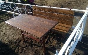 Ритуальные столы лавки из дерева.