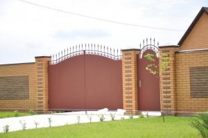 Ворота металлические, распашные