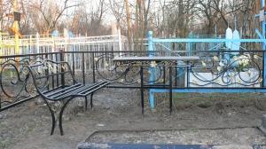 Ритуальные столы лавки из металла.