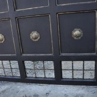 Ворота распашные из мет. листа